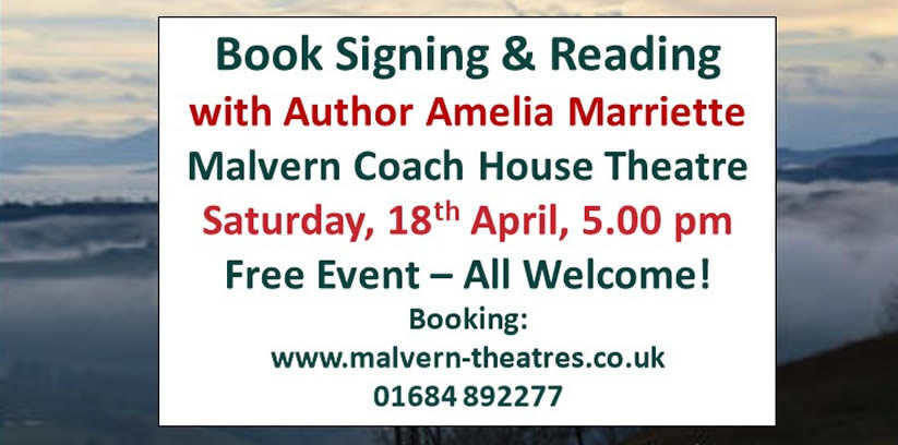 AMELIA MARRIETTE – BOOK LAUNCH