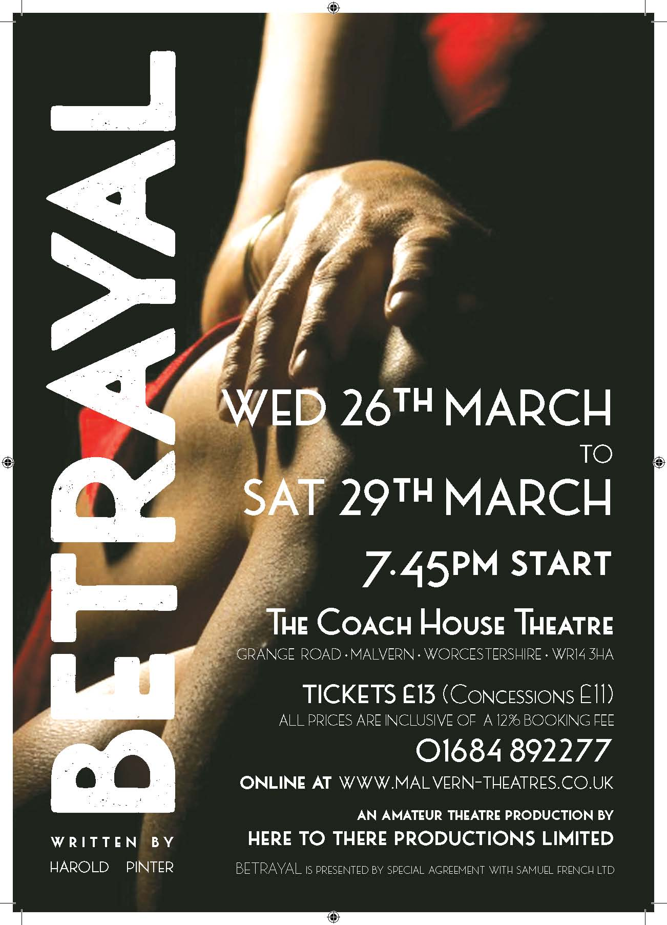 Betrayal poster gone to print