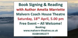 AMELIA MARRIETTE – BOOK LAUNCH @ The Coach House Theatre
